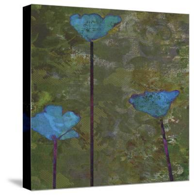 Teal Poppies II-Ricki Mountain-Stretched Canvas Print