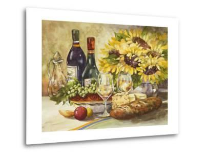 Wine and Sunflowers-Jerianne Van Dijk-Metal Print
