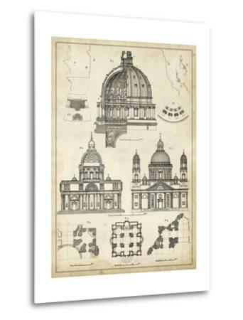 Vintage Architect's Plan II-Vision Studio-Metal Print
