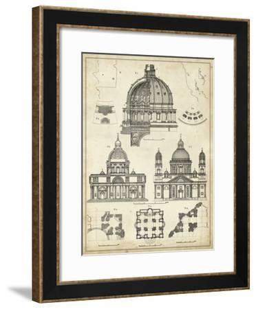 Vintage Architect's Plan II-Vision Studio-Framed Art Print