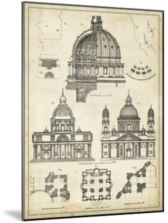 Vintage Architect's Plan II-Vision Studio-Mounted Art Print