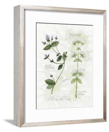 Oregano and Mint-Elissa Della-piana-Framed Art Print