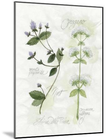 Oregano and Mint-Elissa Della-piana-Mounted Art Print