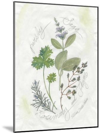 Parsley and Sage-Elissa Della-piana-Mounted Art Print