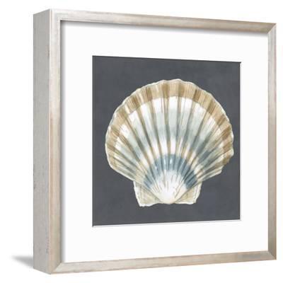 Shell on Slate III-Megan Meagher-Framed Art Print