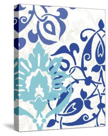 Exotic Indigo II-Erica J^ Vess-Stretched Canvas Print