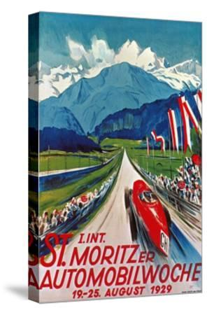 Poster for St. Moritz Car Show--Stretched Canvas Print