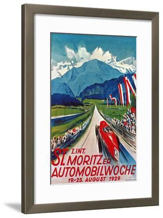 Poster for St. Moritz Car Show--Framed Giclee Print