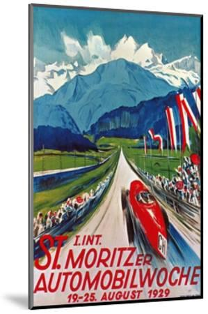 Poster for St. Moritz Car Show--Mounted Giclee Print