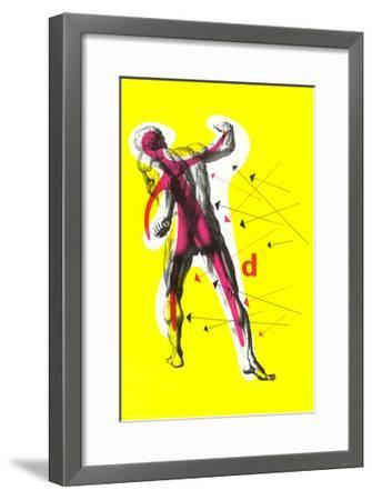 Poster of Arrows Pointing to Muscles--Framed Giclee Print