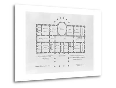 Floor Plan of the White House--Metal Print