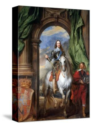 Charles I with Monsieur De St Antoine-Sir Anthony Van Dyck-Stretched Canvas Print