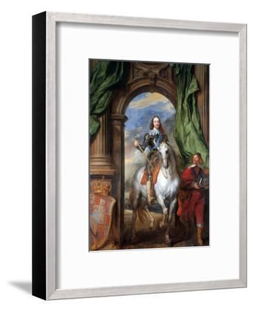 Charles I with Monsieur De St Antoine-Sir Anthony Van Dyck-Framed Premium Giclee Print