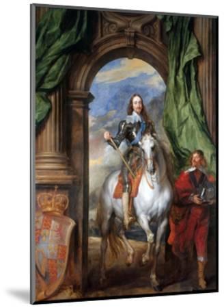 Charles I with Monsieur De St Antoine-Sir Anthony Van Dyck-Mounted Premium Giclee Print