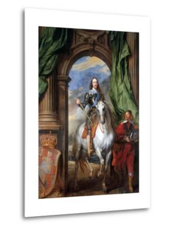 Charles I with Monsieur De St Antoine-Sir Anthony Van Dyck-Metal Print