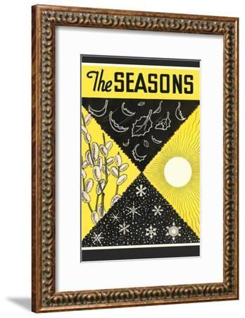 Four Seasons Chart--Framed Giclee Print