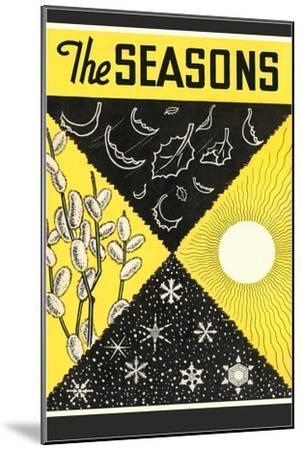 Four Seasons Chart--Mounted Giclee Print