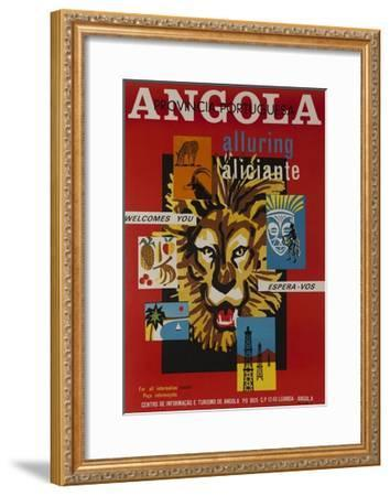 Alluring Angola Welcomes You, Tourism Office Travel Poster--Framed Giclee Print