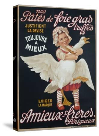 Ameiux Freres, Pates De Foie Gras, French Advertising Poster--Stretched Canvas Print