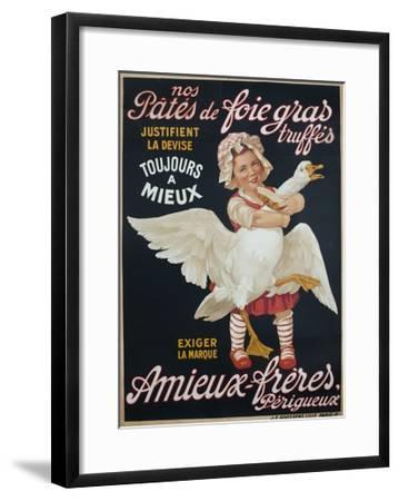 Ameiux Freres, Pates De Foie Gras, French Advertising Poster--Framed Giclee Print
