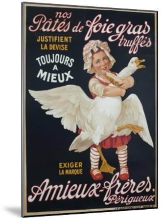 Ameiux Freres, Pates De Foie Gras, French Advertising Poster--Mounted Giclee Print