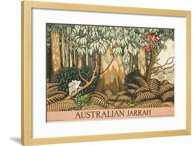 Australian Jarrah Travel Poster--Framed Giclee Print