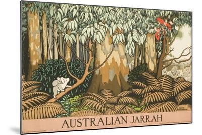 Australian Jarrah Travel Poster--Mounted Giclee Print