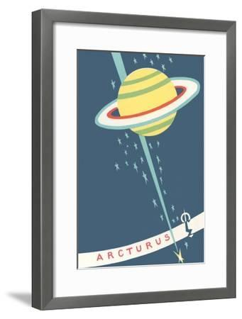 Arcturus and Saturn--Framed Giclee Print