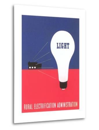 Rural Electrification Administration Poster--Metal Print