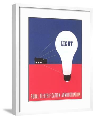 Rural Electrification Administration Poster--Framed Giclee Print