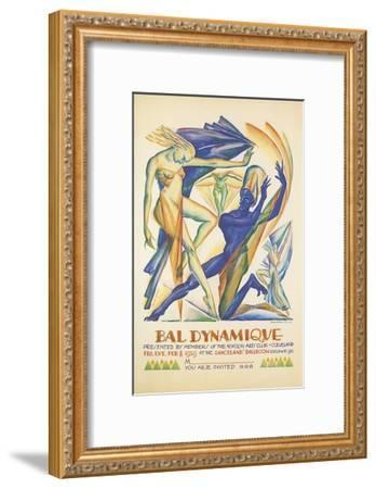 Invitation to Modern Dance Concert, 1929--Framed Giclee Print