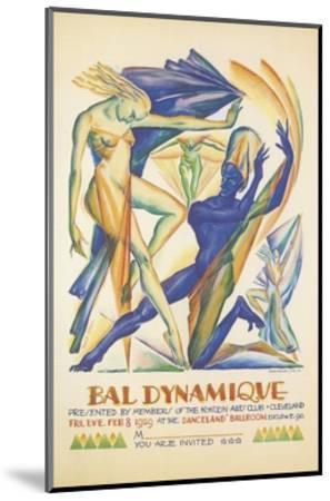 Invitation to Modern Dance Concert, 1929--Mounted Giclee Print