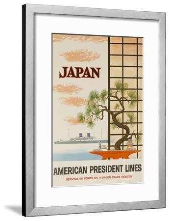 Japan American President Lines Cruise Poster--Framed Giclee Print