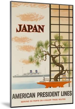 Japan American President Lines Cruise Poster--Mounted Giclee Print