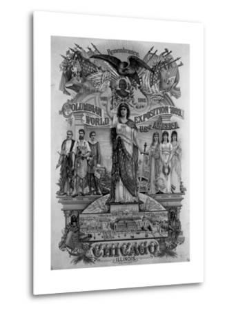 World's Columbian Exposition Poster--Metal Print