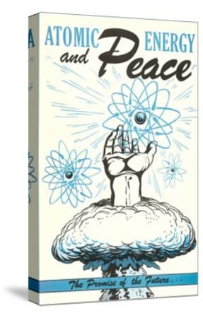 Atomic Energy and Peace Poster--Stretched Canvas Print