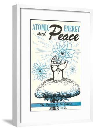 Atomic Energy and Peace Poster--Framed Giclee Print