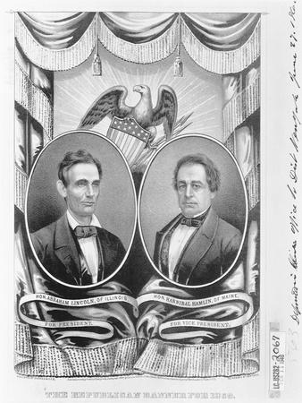 Republican Presidential and Vice Presidential Nominees of 1860--Framed Giclee Print