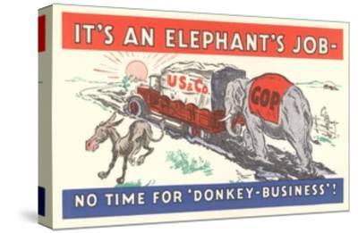 It's an Elephant's Job Political Cartoon--Stretched Canvas Print