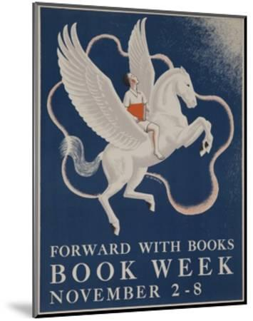 1941 Children's Book Council Book Week--Mounted Giclee Print
