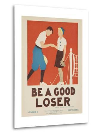 1938 Character Culture Citizenship Guide Poster, Be a Good Loser--Metal Print