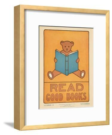 1938 Character Culture Citizenship Guide Poster, Read Good Books--Framed Giclee Print