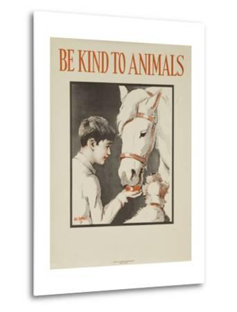 1939 Be Kind to Animals, American Civics Poster, Horse Stall--Metal Print