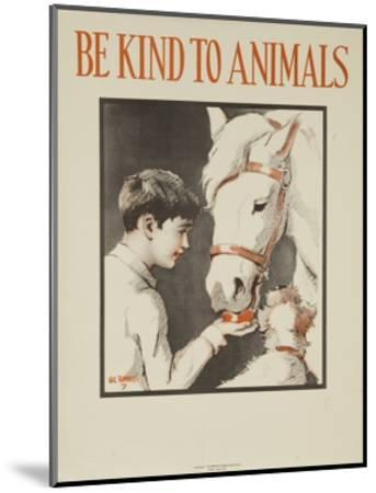 1939 Be Kind to Animals, American Civics Poster, Horse Stall--Mounted Giclee Print