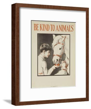 1939 Be Kind to Animals, American Civics Poster, Horse Stall--Framed Giclee Print