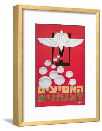 Russian Poster with Parachutes--Framed Giclee Print