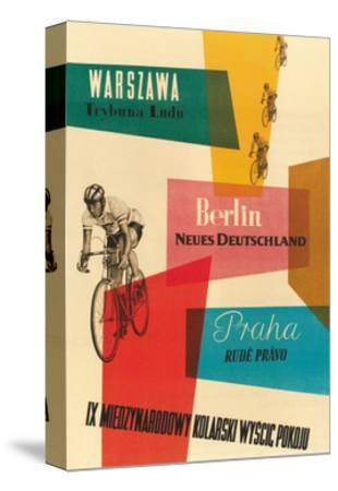 Bicycle Race, Warsaw, Berlin, Prague--Stretched Canvas Print