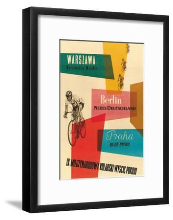 Bicycle Race, Warsaw, Berlin, Prague--Framed Premium Giclee Print