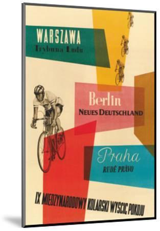 Bicycle Race, Warsaw, Berlin, Prague--Mounted Premium Giclee Print