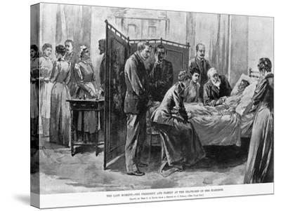 Death of Caroline Harrison--Stretched Canvas Print